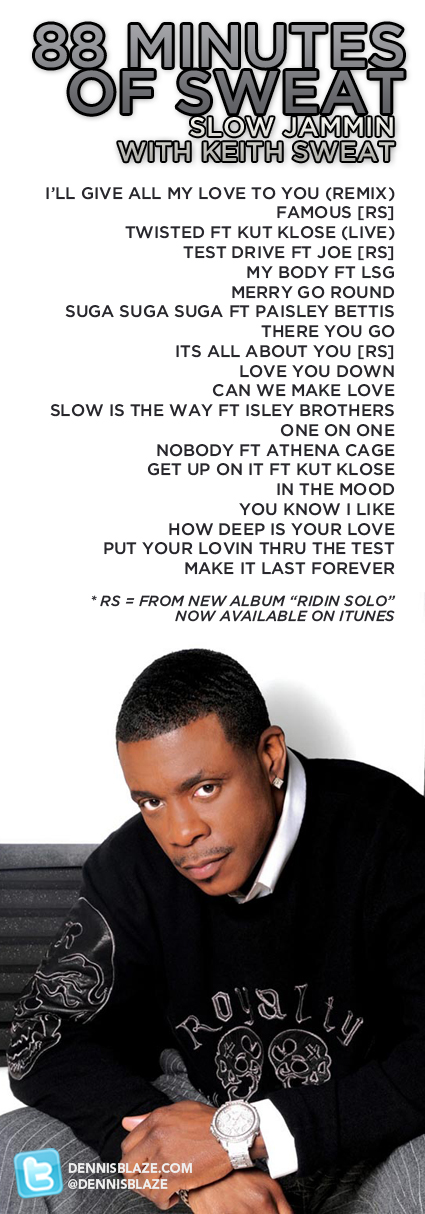 88 MINS OF SWEAT: SLOW JAMMIN WITH KEITH SWEAT (2010)