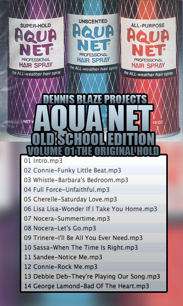 BACK BY REQUEST. 2001 RELEASE. AQUA NET THE ORIGINAL HOLD MIXTAPE. OLD SCHOOL LESSON 1.