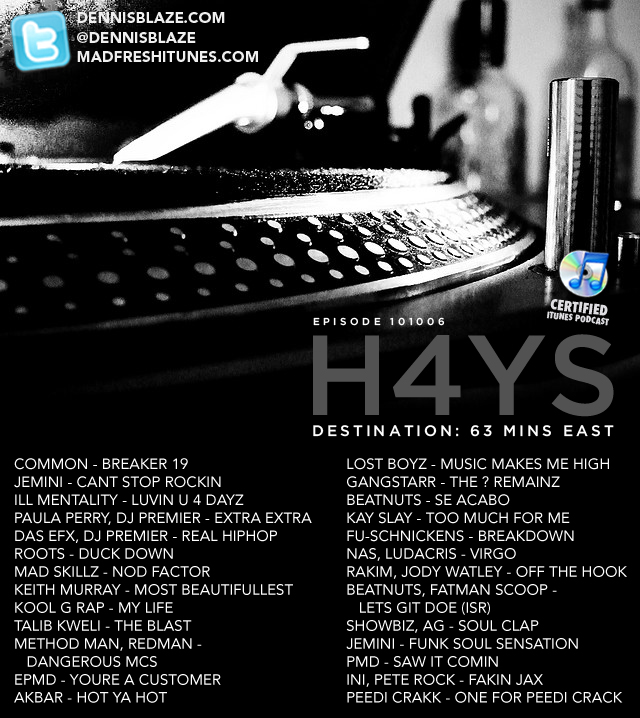 H4YS #PODCAST DESTINATION 63 MINUTES TO THE EAST