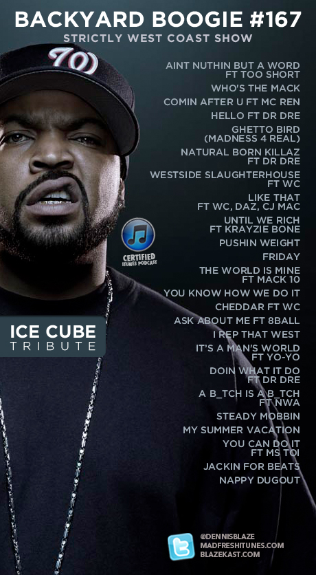 BACKYARD BOOGIE WEST COAST SHOW 167 @ICECUBE TRIBUTE #WESTCOAST #PODCAST #FULLDOWNLOAD