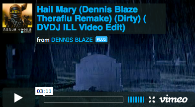 [REMIX VIDEO] #2PAC V KANYE – HAIL MARY – DENNIS BLAZE THERAFLU REMAKE. VIDEO BY @DVDJILL