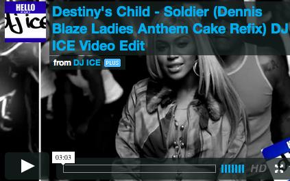[REMIX VIDEO] DESTINY'S CHILD V. RIHANNA – SOLDIER DENNIS BLAZE CAKE RE-BAKE. VIDEO BY @THE1DJICE