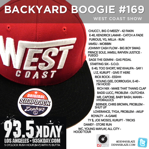 Backyard Boogie 169 Left Coast Heat #westcoast #mixtape #fulldownload #podcast