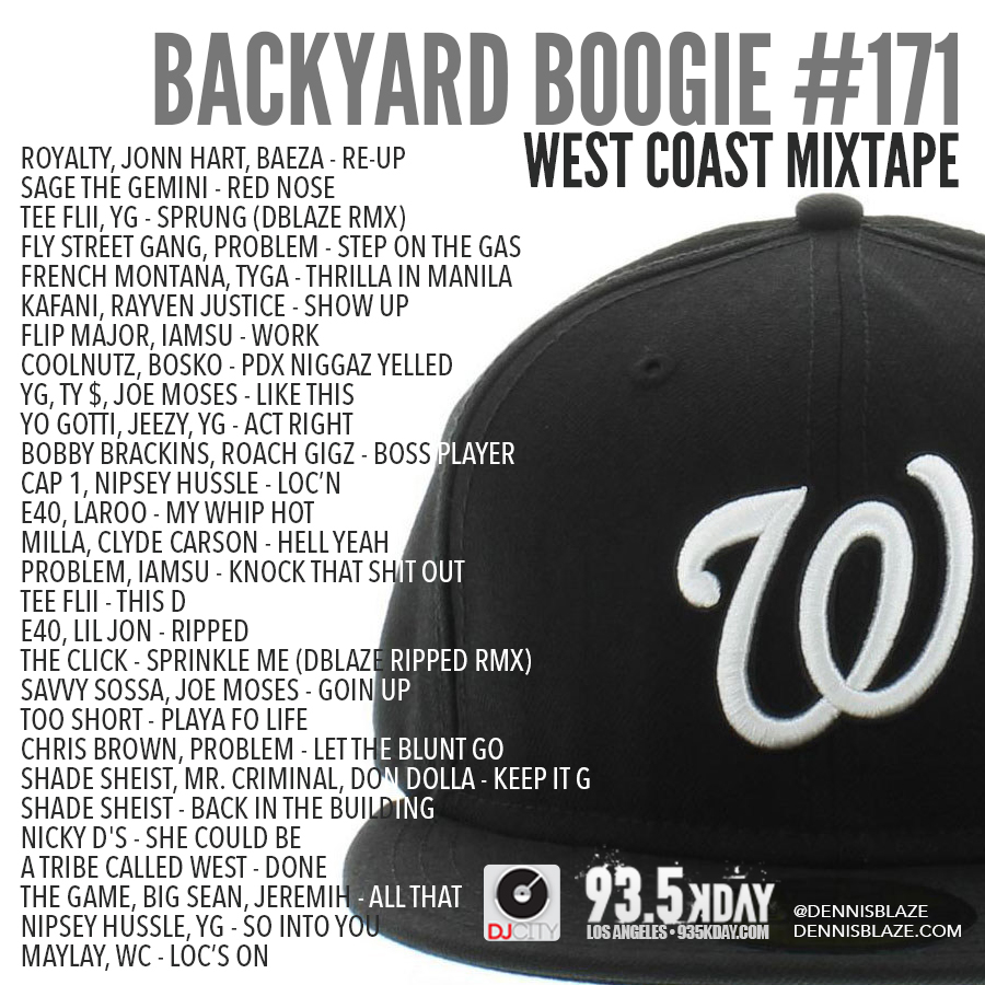 Backyard Boogie #westcoast #mixtape 171 by Dennis Blaze #podcast