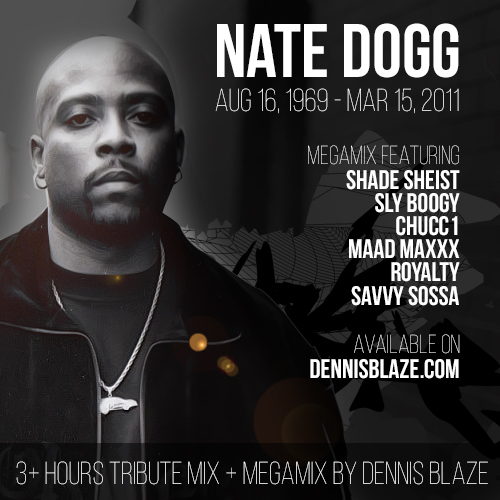 Nate Dogg Tribute Mixes (4+ hrs) + Megamix by Dennis Blaze #RIPNATEDOGG