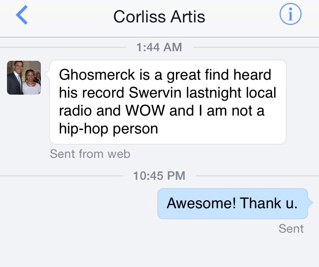 From Corliss on the Ghosmerck record I produced